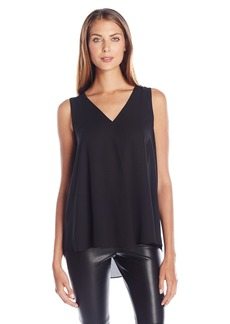 Vince Camuto Women's Sleeveless V-Neck Drape Front Blouse  Small