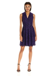 Vince Camuto Women's Sleeveless V-Neck Fit and Flare Dress