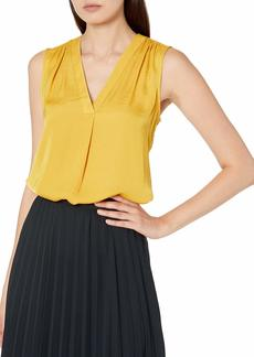 Vince Camuto Women's Sleeveless V-Neck Rumple Blouse