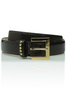 Vince Camuto Women's Snake Panel Belt with Studs