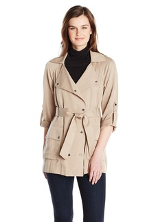 Vince Camuto Women's Soft Double Breasted Trench Coat  Large