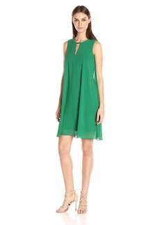 Vince Camuto Women's Solid Chiffon Float Dress