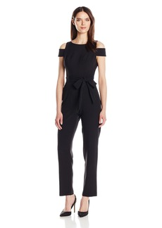 Vince Camuto Women's Solid Cold Shoulder Jumpsuit