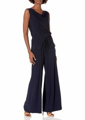 Vince Camuto Women's Solid ITY Cowl Neck Jumpsuit  Extra Large