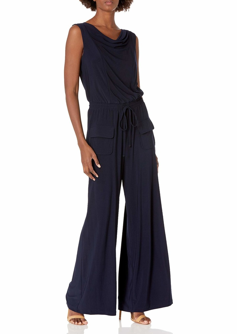 Vince Camuto Women's Solid ITY Cowl Neck Jumpsuit