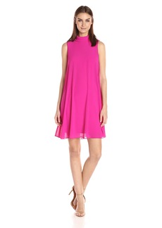 VINCE CAMUTO Women's Solid Roll Collar Dress