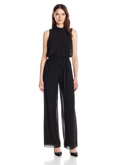 Vince Camuto Women's Solid Roll Collar Jumpsuit