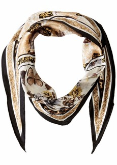 Vince Camuto Women's Splendor and Opulence Printed Kite Scarf black Gold