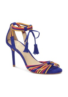 VINCE CAMUTO Women's Stellima Leather Tasseled Ankle-Tie Sandals