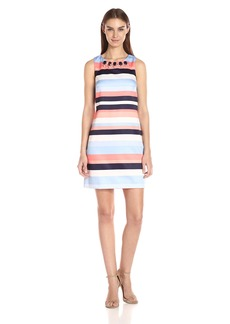 Vince Camuto Women's Stripe Satin Shift Dress