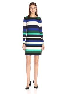 Vince Camuto Women's Stripe Scuba T Body Dress