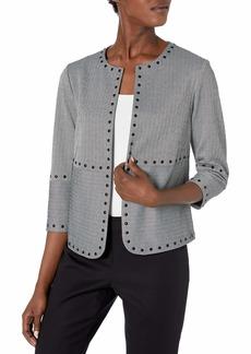 Vince Camuto Women's Studded Herringbone Jacket