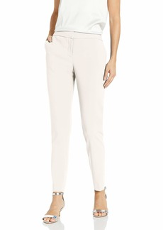 Vince Camuto Women's Textured Twill Front Zip Ankle Pant