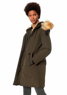 Vince Camuto Women's Thigh Length Heavy Weight Dowm Jacket with Hood