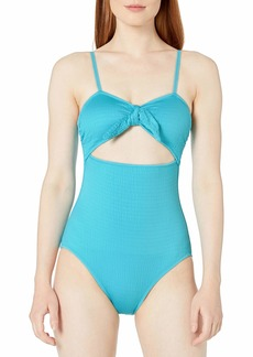Vince Camuto Women's Tie Front one Piece Swimsuit