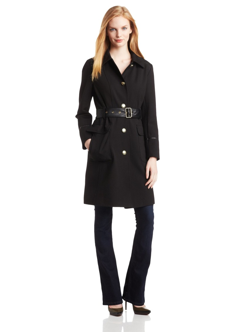 Vince Camuto Women's Trench Coat With Leather Belt