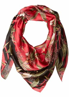 Vince Camuto Women's Tropic Heatwave Oversize Square Scarf pink