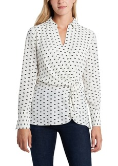 Vince Camuto Women's Twist Front Collared Blouse