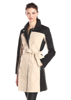 Vince Camuto Women's Two-Tone Belted Trench Coat