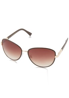 VINCE CAMUTO Women's VC608 Metal UV Protective Aviator Sunglasses | Wear Year-Round | Luxe Gifts for Women 60 mm