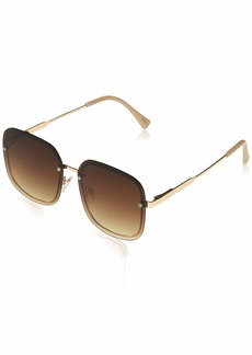 VINCE CAMUTO Women's VC829 Rimless UV Protective Square Sunglasses | Wear Year-Round | Luxe Gifts for Women