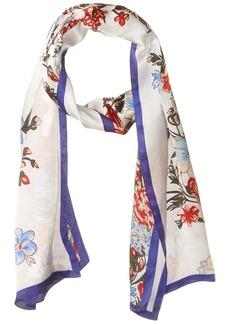 Vince Camuto Women's Vintage Bouquet Oblong Scarf MARINE BLUE