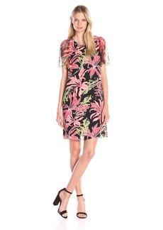 Vince Camuto Women's Wildflower Bloom Flutter Sleeve Dress