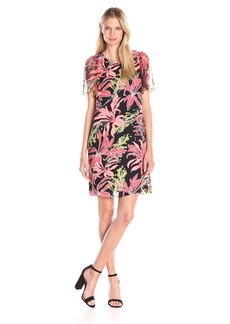 Vince Camuto Women's Wildflower Bloom Flutter Sleeve Dress