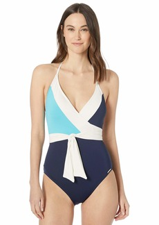VINCE CAMUTO Women's Wrap Tie One Piece Swimsuit