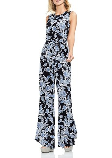 VINCE CAMUTO Woodblock Floral Flared Jumpsuit