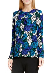 Vince Camuto 'Woodland Floral' Print Ruffle Front Blouse