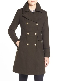 Vince Camuto Wool Blend Double Breasted Officer's Coat