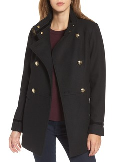 Vince Camuto Wool Blend Military Coat