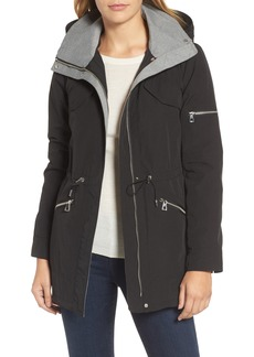 Vince Camuto Wool Trim Parka