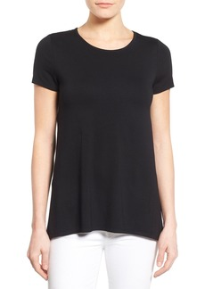 Vince Camuto Woven Back High/Low Knit Top