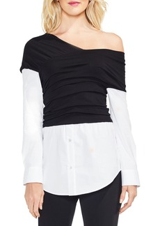 Vince Camuto Wrap Front One-Shoulder Top