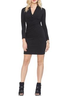 Vince Camuto Wrap Front Sparkle Body-Con Dress