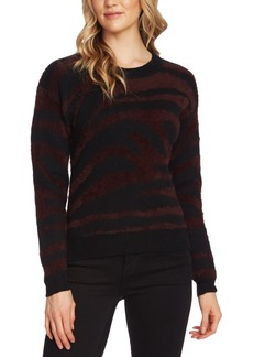 Vince Camuto Zebra Eyelash-Knit Sweater