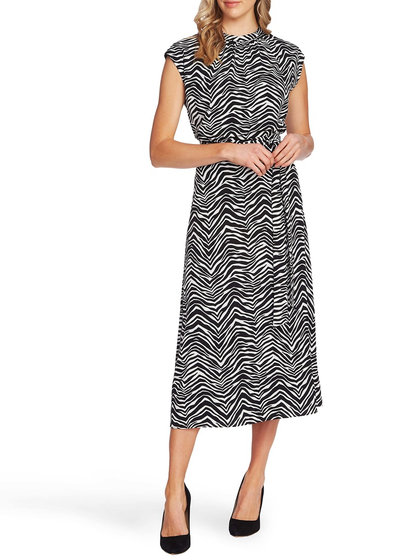 Vince Camuto Zebra Peaks Cap Sleeve Dress