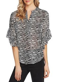 VINCE CAMUTO Zebra-Print Top