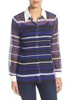 Vince Camuto 'Zen Stripe' Sheer Blouse (Regular & Petite)