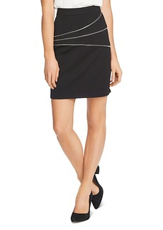 VINCE CAMUTO Zipper Trim Ponte Mini Skirt