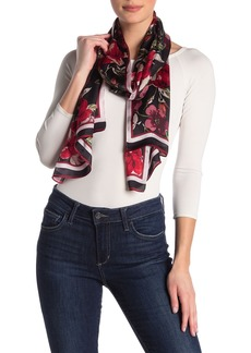 Vince Camuto Wallpaper Floral Print Long Silk Scarf