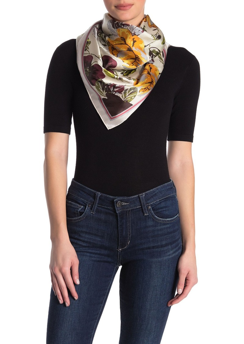 Vince Camuto Wallpaper Silk Floral Scarf