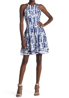 Vince Camuto Watercolor Scuba Fit & Flare Dress