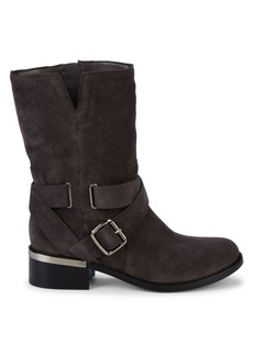 Vince Camuto Wethima Suede Mid-Calf Boots