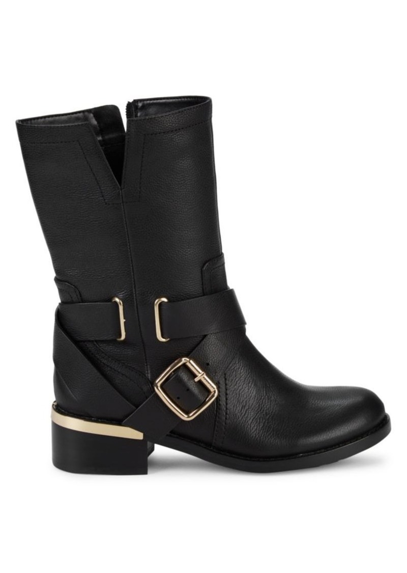 Vince Camuto Wethma Leather Moto Boots