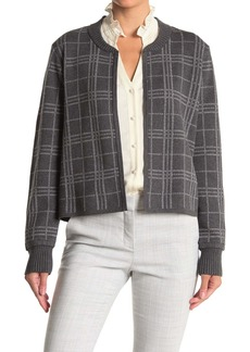 Vince Camuto Windowpane Open Front Cardigan