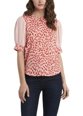 Vince Camuto Women's Animal Textured Knit Top