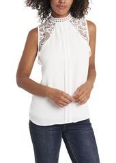 Vince Camuto Women's Lace Collar Blouse